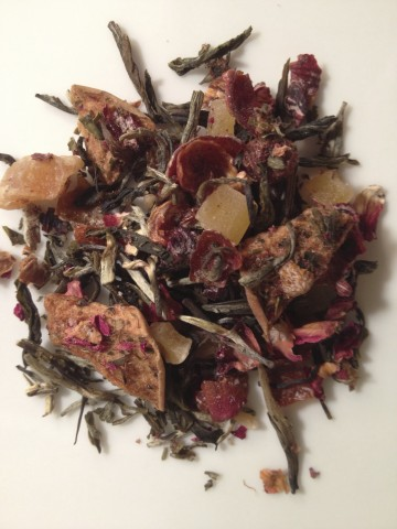 Youthberry tea - white tea with dried fruits and flowers.