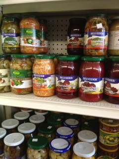 The variety of pickled things at these stores is fascinating. While many labels don't contain any English, with simply prepared, traditional foods, it's easy to just look and see what produce and spices are included.